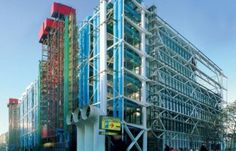 Georges Pompidou Center in Paris by the team of Richard Rogers, Renzo Piano and Gianfranco Franchini. Renzo Piano, Matisse, Museum Of Modern Art, Art Museum, Christo Et Jeanne Claude, Centre Pompidou Paris, Art Is Dead, Georges Pompidou, Tourist Office