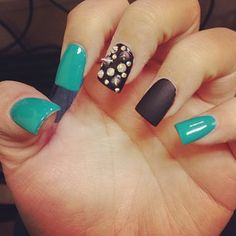 Studs.... idk if i could have something si bulky on my nails but its hot