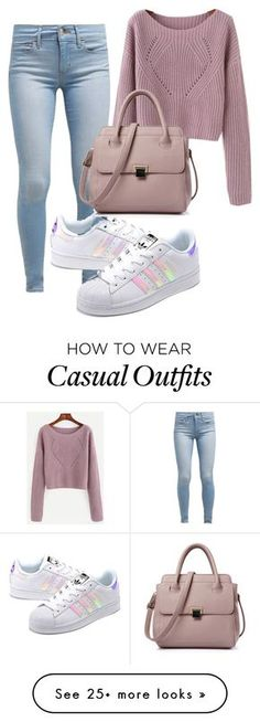 """""""Casually shopping """" by gnatalia on Polyvore featuring Levi's and adidas Originals"""