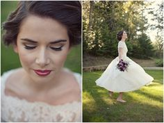 Vintage Wedding Dress & Floral Accessory Inspiration | Bridal Musings