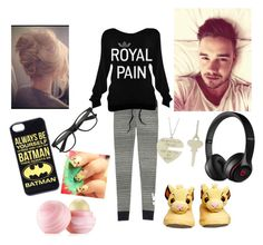 """Lazy day w/ Liam Payne"" by one-direction-heart217 ❤ liked on Polyvore featuring moda, Victoria's Secret, Beats by Dr. Dre, Eos e Payne"
