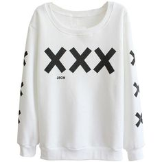 Amazon.com: Women Long Sleeve Cozy Lightweight XXX Logo Fleece Jumper... ($15) ❤ liked on Polyvore featuring tops, hoodies, sweatshirts, logo sweatshirts, lightweight sweatshirts, grey top, grey sweatshirt and fleece sweatshirt