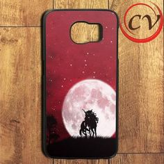 Unicorn And Red Sky Samsung Galaxy S7 Edge Case