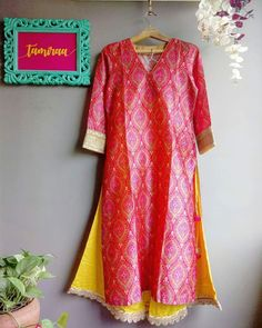 Intricate Mughal Print Kurti with Scalloped Hem Pallazo's by House of Tamiraa. For personal orders and enquiries kindly contact us on 7039883483.  https://www.facebook.com/houseoftamiraa/
