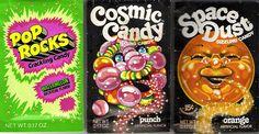 Vintage pop rocks, cosmic candy & space dust/ Dude the cool original lableI loved it Retro Candy, Vintage Candy, Retro Vintage, Vintage Modern, Vintage Food Labels, Vintage Recipes, School Memories, Childhood Memories, Space Dust