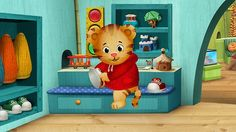 DANIEL TIGER'S NEIGHBORHOOD, the first TV series from the Fred Rogers Company since the iconic MISTER ROGERS' NEIGHBORHOOD, premieresthis Labor Day, Monday, September 3, 2012 on PBS KIDS.  The series stars 4-year-old Daniel Tiger, son of the original program's Daniel Striped Tiger, who invites young viewers into his world, giving them a kid's eye view of his life in the Neighborhood of Make-Believe.