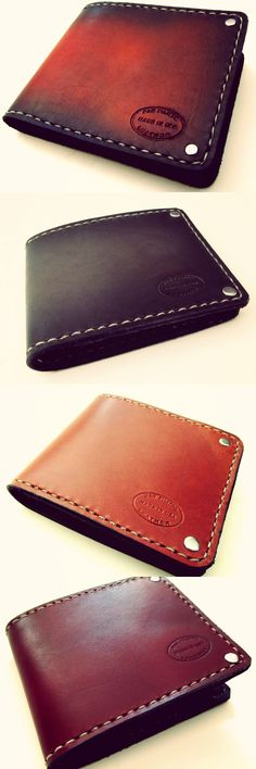 Great bifold leather wallets for men. Handmade in San Francisco.