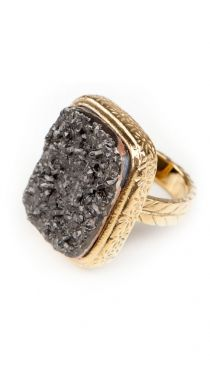 BLACK DRUZY Ring I would like this in silver better