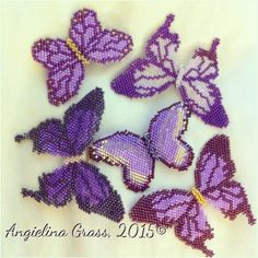 #LupusAwareness beaded butterflies | by Angielina74