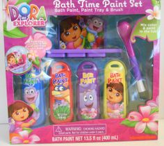 Dora the Explorer Bath Time Paint Set Bath Gift Set 6 Pieces Nickelodeon #Nickelodeon