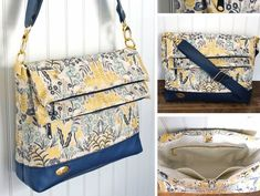 The new Double Flip Shoulder Bag sewing pattern by Janelle MacKay of Emmaline Bags.