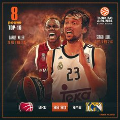 BC, Real Madrid, BC Brose Baskets Bamberg, TOP-16, Euroleague, basketball, Europe, Social media design, sport, branding, basketball, art, social media graphic, basketball club, style, Game day, #sportaredi