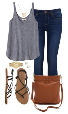 """""""Casual Comfy"""" by miss-ivyw ❤ liked on Polyvore featuring Miss Selfridge, Rebecca Taylor, Billabong, Tory Burch, Lauren Ralph Lauren, Michael Kors and Argento Vivo"""