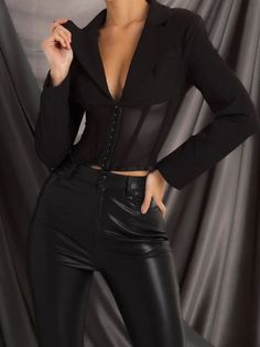 Glamouröse Outfits, Classy Outfits, Stylish Outfits, High Fashion Outfits, Corset Outfit, Look Fashion, Womens Fashion, Mode Kpop, Mode Streetwear