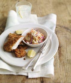 Chicken schnitzels with sesame slaw | M Stories