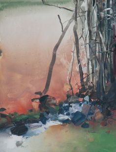 Painter's Process - Randall David Tipton 'Out from the Forest' watermedia on Yupo 10x8