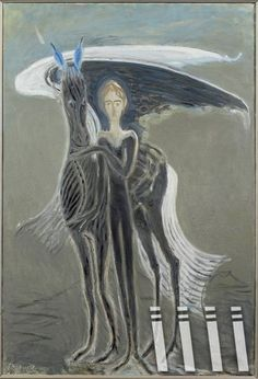 Kjarval - Pegasus og stulkan