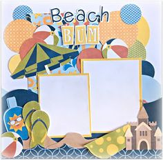 Hi Fellow scrappers..   I'm here today to share a fun summer themed layout I created as my design team project for Pretty Paper, Pretty Rib...