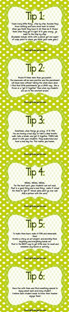 Tips for K