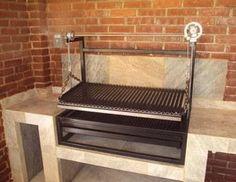 Indoor but outdoor grill ; Outdoor Life, Outdoor Living, Outdoor Decor, Outdoor Bars, Bbq Grill, Grilling, Parrilla Exterior, Brick Bbq, Bbq Area