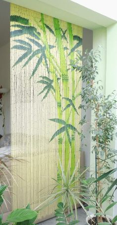Bamboo curtains, Curtain door and Door curtains on Pinterest
