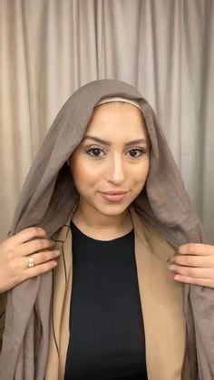 Hijab Turban Style, Mode Turban, Hijab Outfit, Muslim Fashion, Ootd Fashion, Modest Fashion, Hijab Style Tutorial, Hijab Look, Diy Scarf