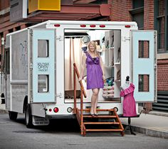 The newest way to get your fashion on the go! Retail fashion trucks! Check it out on www.hautetalk.com #Haute