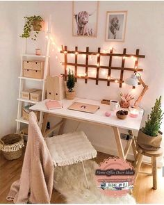 diy projects Apartment desks - Simple, Easy & Intimidating DIY Desk Ideas - Thrift with Vitor Cute Bedroom Decor, Room Ideas Bedroom, Office In Bedroom Ideas, Small Bedroom Decor On A Budget, Bedroom Inspo, Bedroom Small, Teen Bedroom Desk, 60s Bedroom, Cute Desk Decor