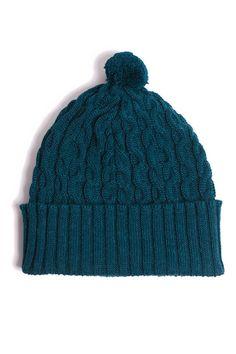 mossa-petrol Baby Alpaca, Knitted Hats, Villa, Knitting, Accessories, Fashion, Moda, Tricot, Fashion Styles