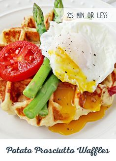 Let's face it, breakfast is officially the best meal of the day. And with fluffy Potato Prosciutto Waffles, it's even better! So, whip up a batch and kick your day off right. Don't forget the finishing touch! Take your potato waffles to the next level and serve them with a touch of butter, sour cream or even a poached egg.