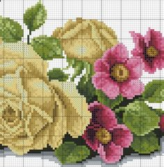 images attach c 8 105 66 Cute Cross Stitch, Cross Stitch Bird, Cross Stitch Alphabet, Cross Stitch Flowers, Cross Stitch Charts, Cross Stitch Designs, Cross Stitching, Cross Stitch Patterns, Rose Embroidery