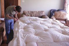 How to make a wool mattress