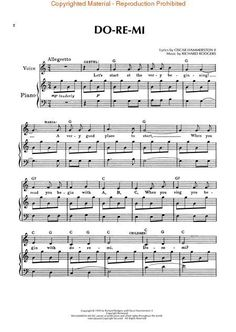 the sound of music sheet music with lyrics - Google Search