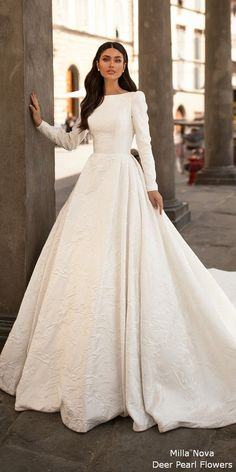 """Milla Nova 2020 """"Royal"""" Braut Kollektion – # 2020 … – New Ideas added to our site quickly. hello sunset today we share Milla Nova 2020 """"Royal"""" Braut Kollektion – # 2020 … – New Ideas photos of you among the popular hair designs. Classy Wedding Dress, Muslim Wedding Dresses, Wedding Dress Trends, Wedding Dress Sleeves, Long Sleeve Wedding, Modest Wedding Dresses, Designer Wedding Dresses, Bridal Dresses, Wedding Gowns"""