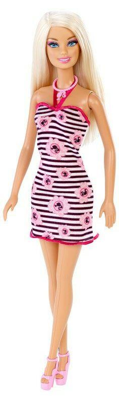 Barbie Pink-Tastic Barbie Doll, Pink and Black Barbie Print Party ...
