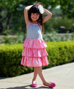 Another great find on #zulily! Silver & Pink Sarah Dress - Toddler & Girls #zulilyfinds