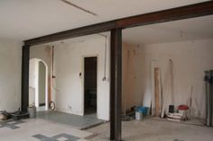 Metal Beam, Load Bearing Wall, Steel Columns, Steel Buildings, Tiny House Plans, Architecture, Pose, Beams, New Homes