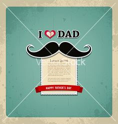 Happy fathers day vintage greeting card vector by Sarunyu_foto on VectorStock®