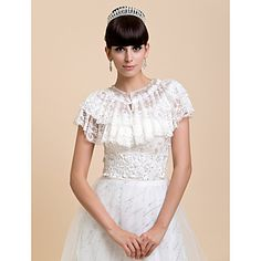 Lace Wedding/Special Occasion Shawls – USD $ 22.79