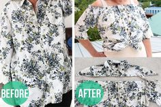 How to Make a Peasant Blouse Out of a Button-Down Shirt | eHow