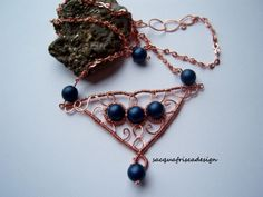 Rame e perle cerate wire wrapping