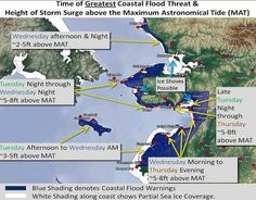 Climate Change | Alaska Impact Of Global Warming, Climate Adaptation, Storm Surge, Army Corps Of Engineers, Rain Storm, Football Field, Sea Level, Climate Change, Alaska