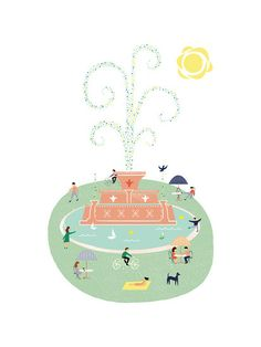The Fountain by Morgan Ramberg for Minted