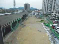 ゴールにて 「解体された旧駅舎跡」