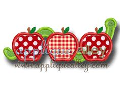 WORM APPLE TRIO  Have this--can put monogram on apples