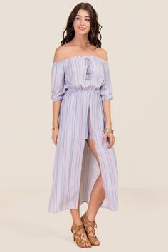 Natalia Striped Maxi Romper