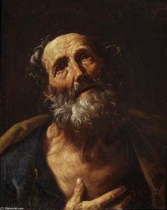 San Pedro Penitente , 1600 de Guido Reni (1575-1642, Italy)
