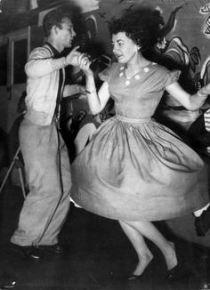 John Wilcox and Beryl Copeland dancing at the Blue Room Club, Brisbane, 1956. State Library of Queensland. Negative number: 169590