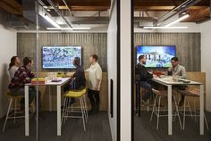 Partners by Design has designed a new office environment for their architecture and design practice located in Chicago, Illinois. Partners by Design has Workspace Design, Office Workspace, Design Offices, Office Designs, Office Cube, Small Office, Open Office, Office Screens, Conference Room Design