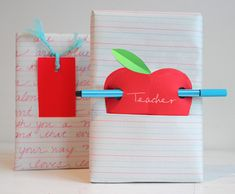 Cute teacher's gift wrap!